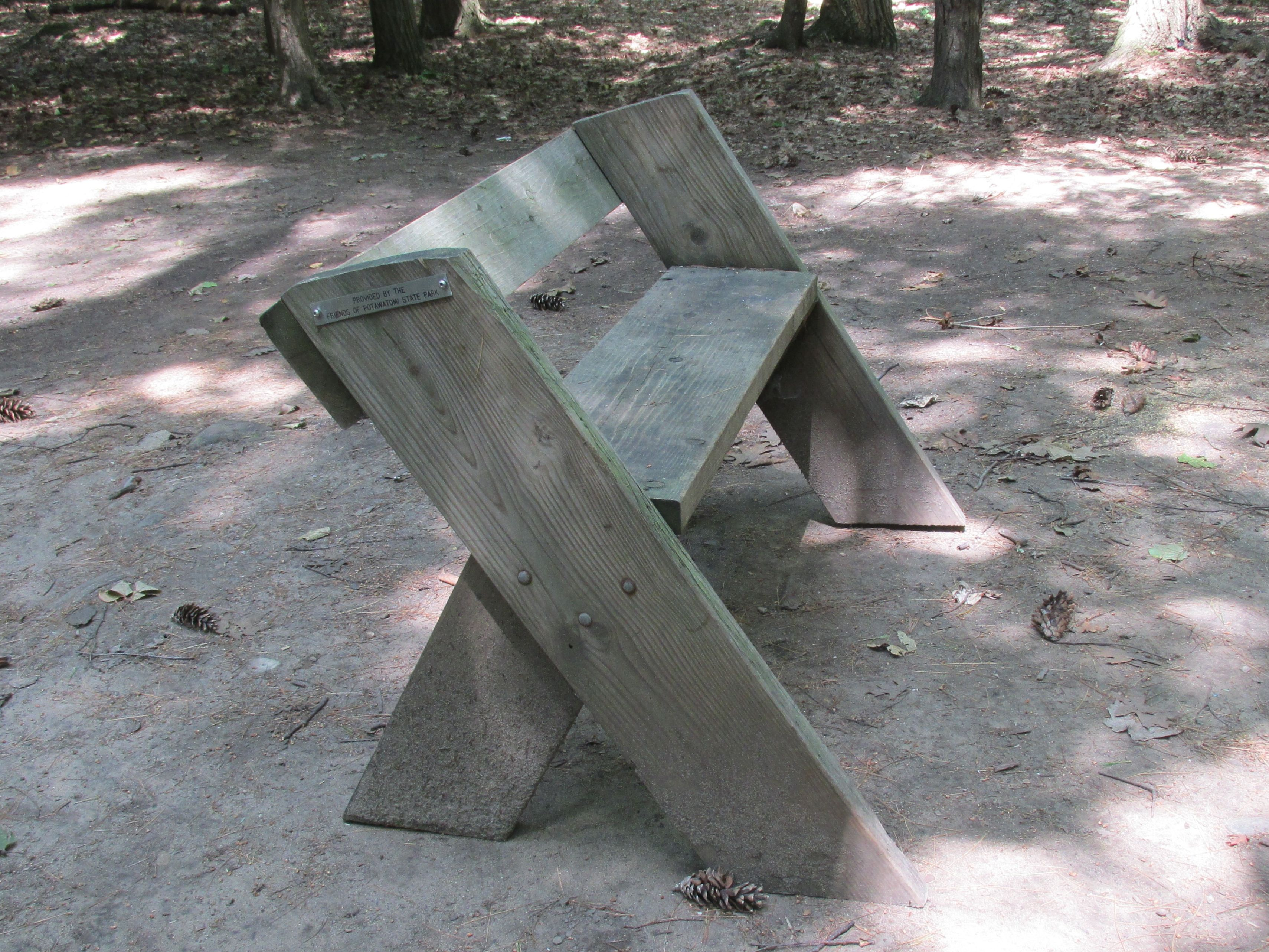 Bench at campsite