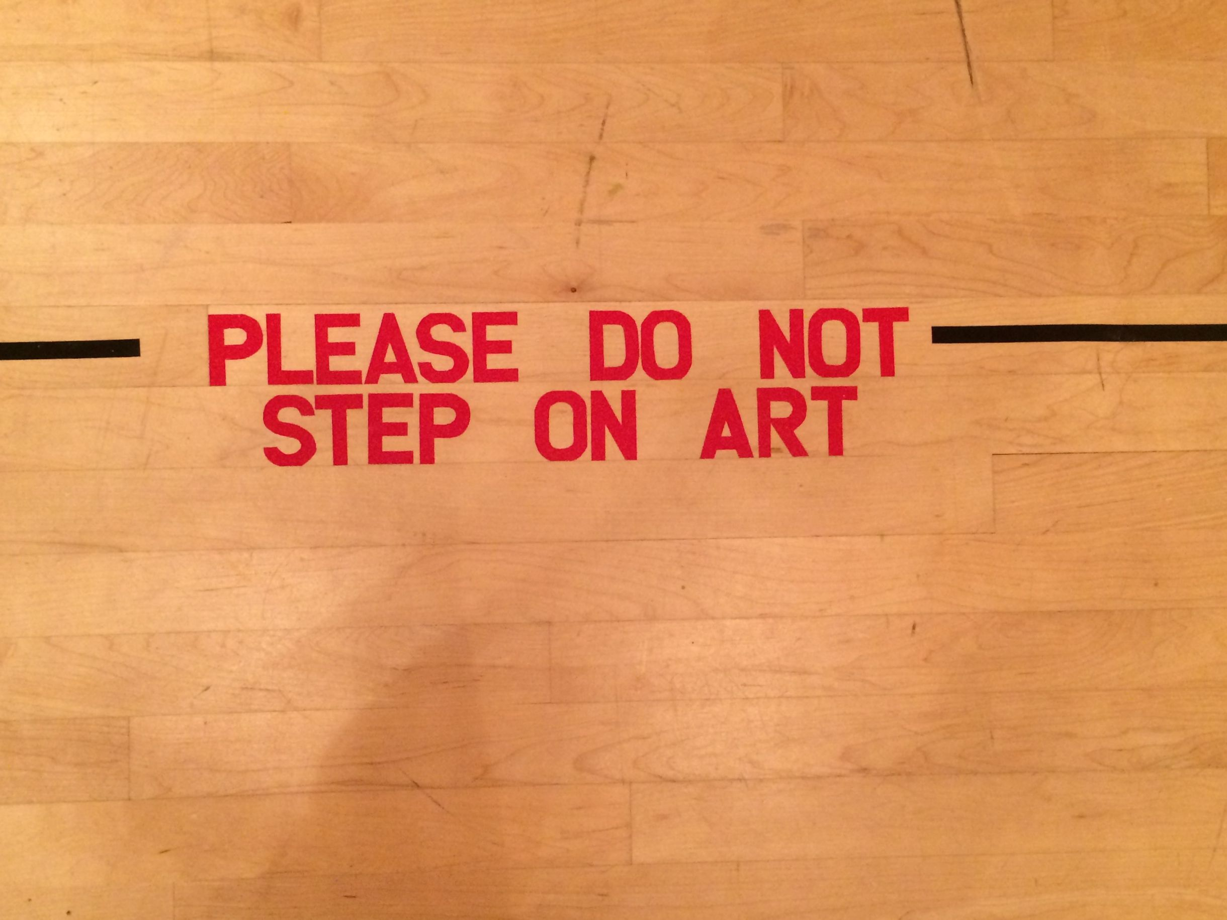 Please do not step on art