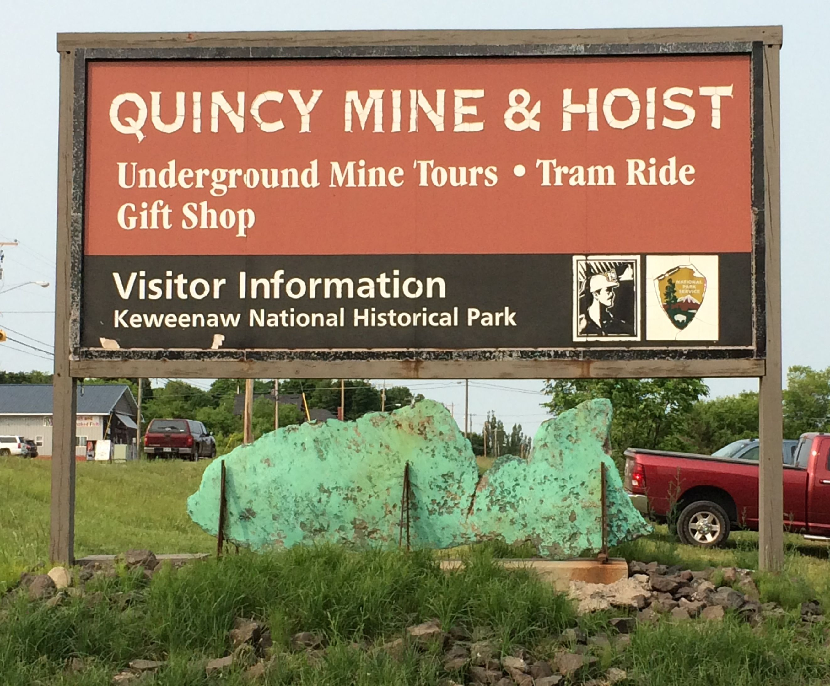 Quincy Mine sign