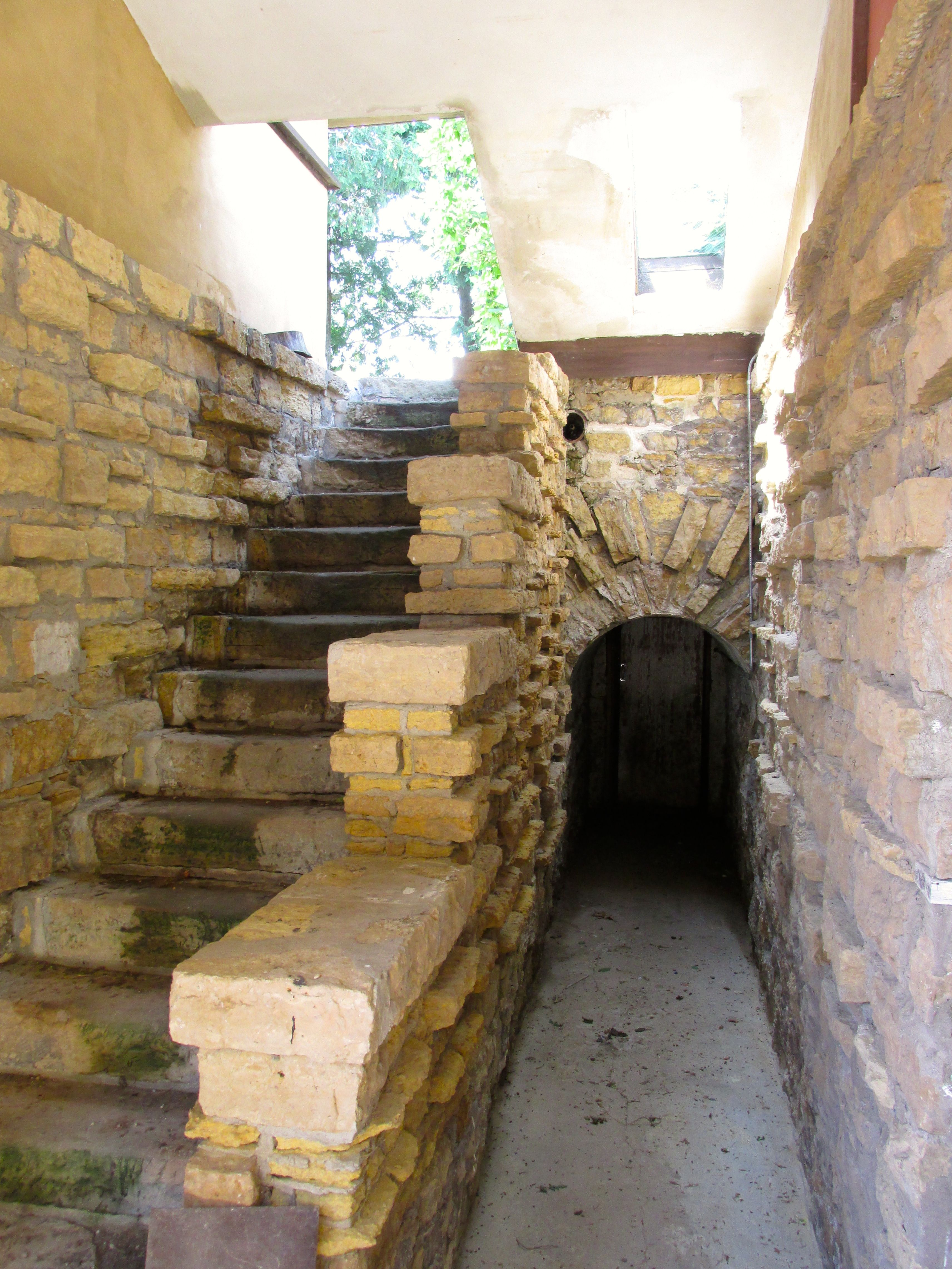 The entrance to the root cellar