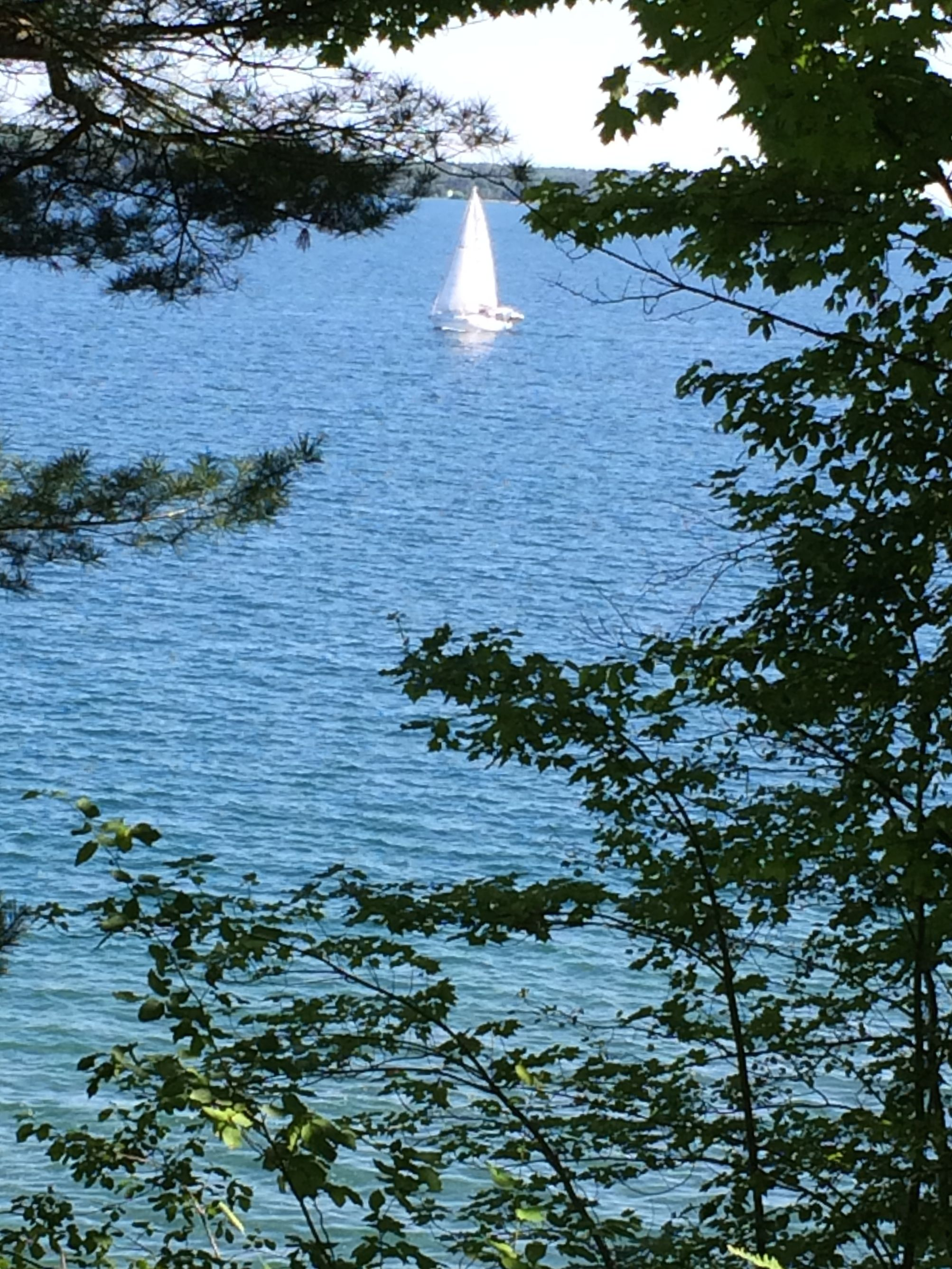 And the sailboats passed by, too.