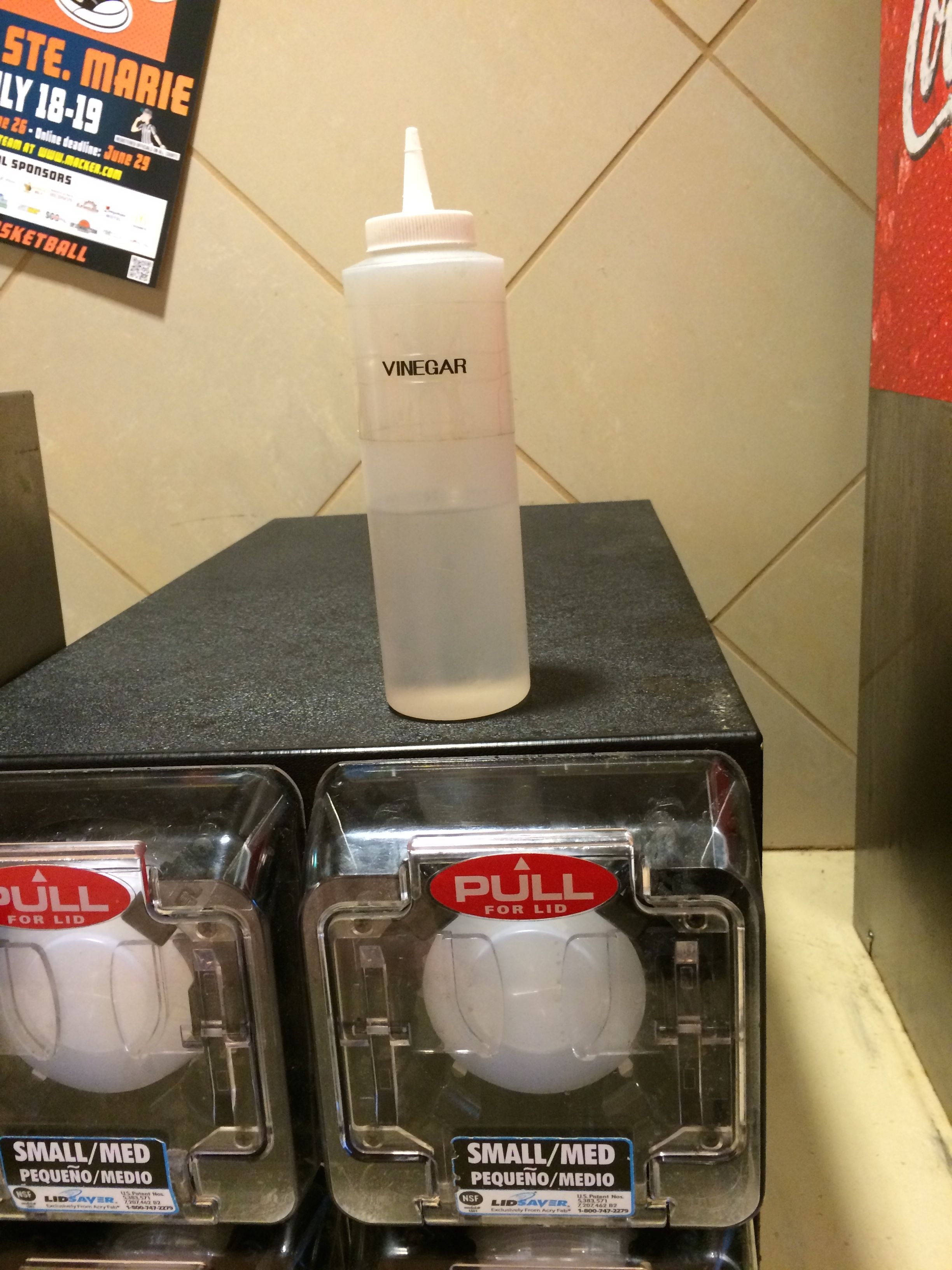 Vinegar for the french fries at McDonald's, eh?