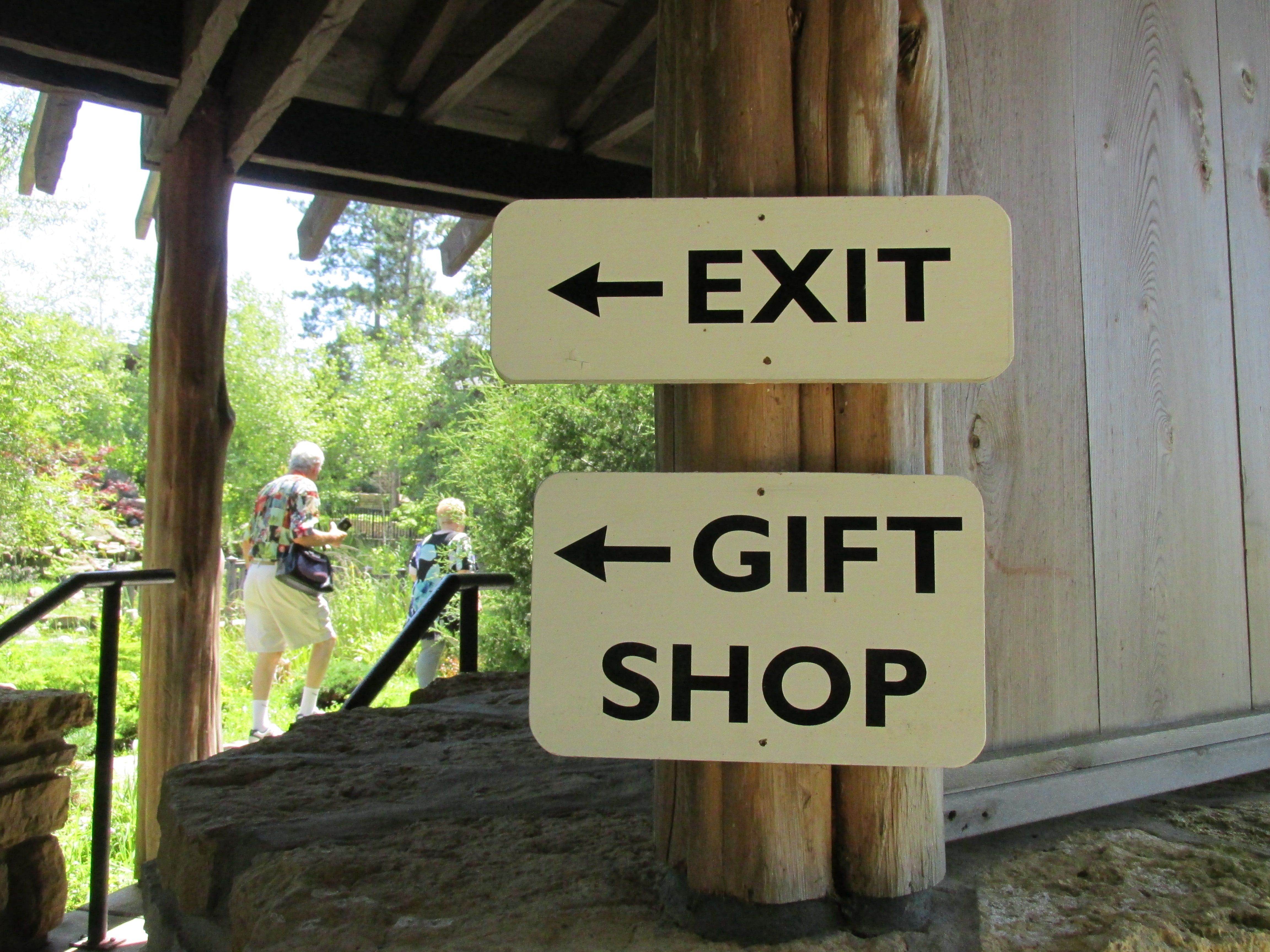 Exit through the gift shop, of course.
