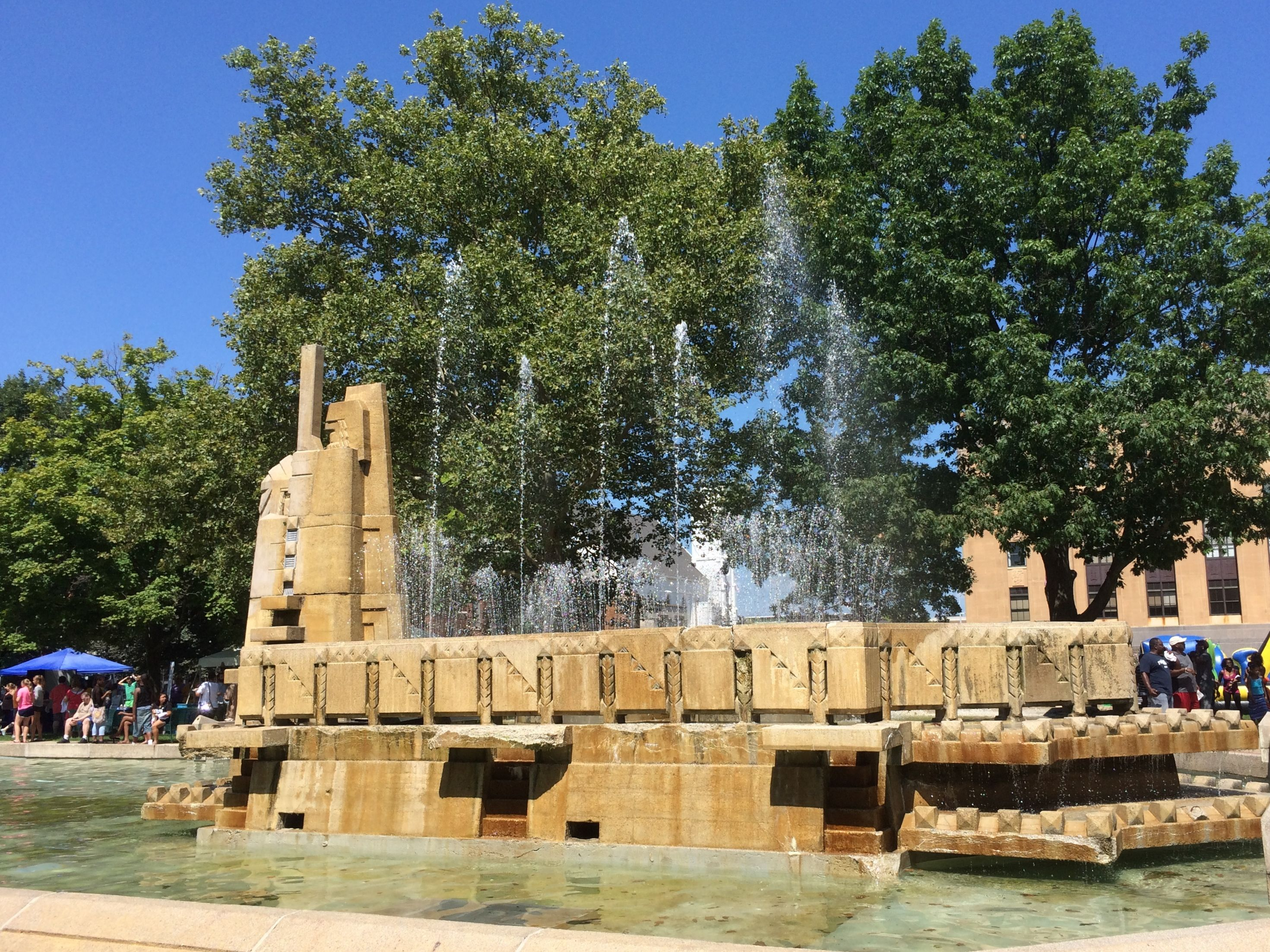 The Fountain of the Pioneers in Bronson Park
