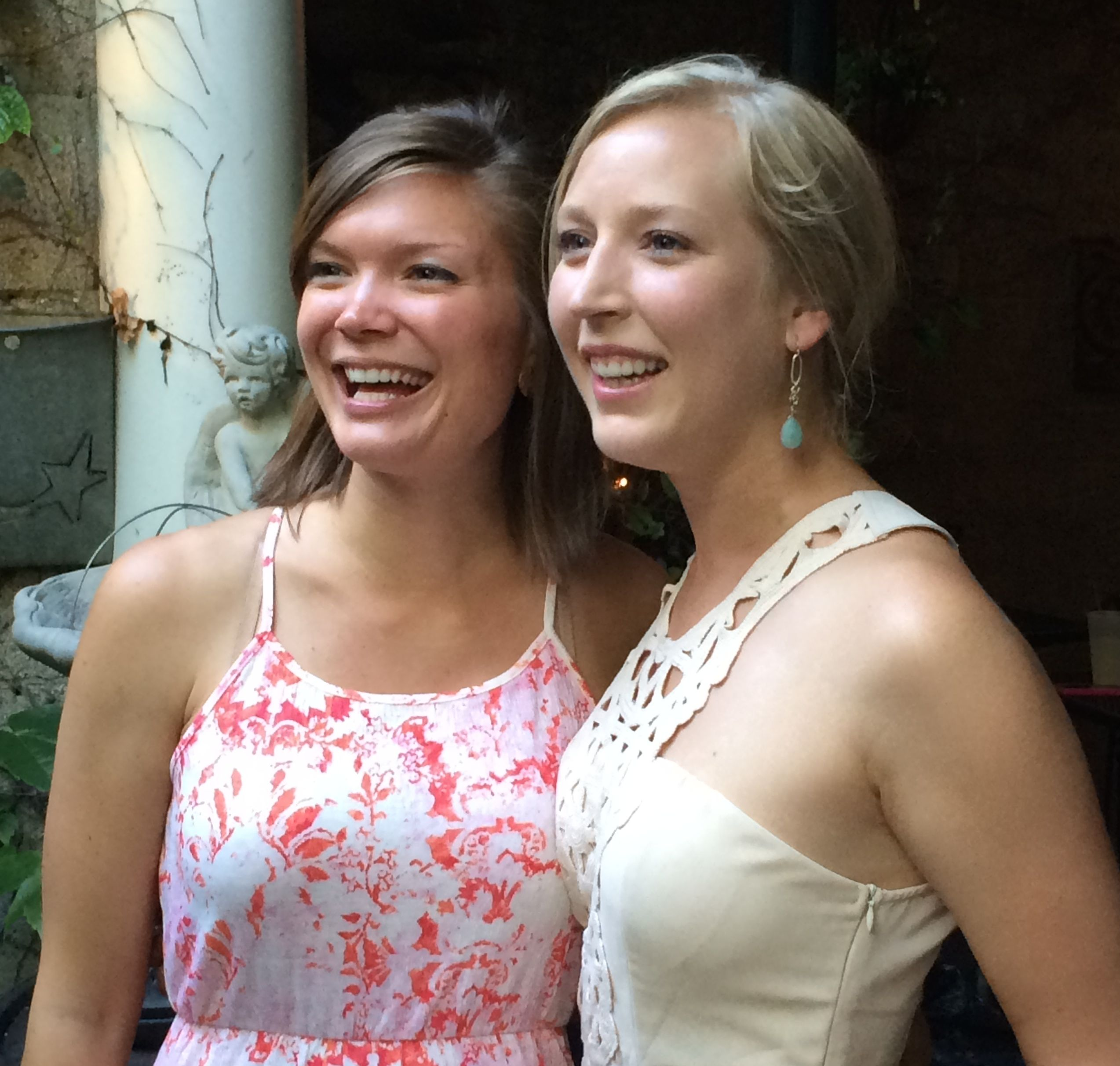 Lisa, the Maid of Honor, and Amber, the bride