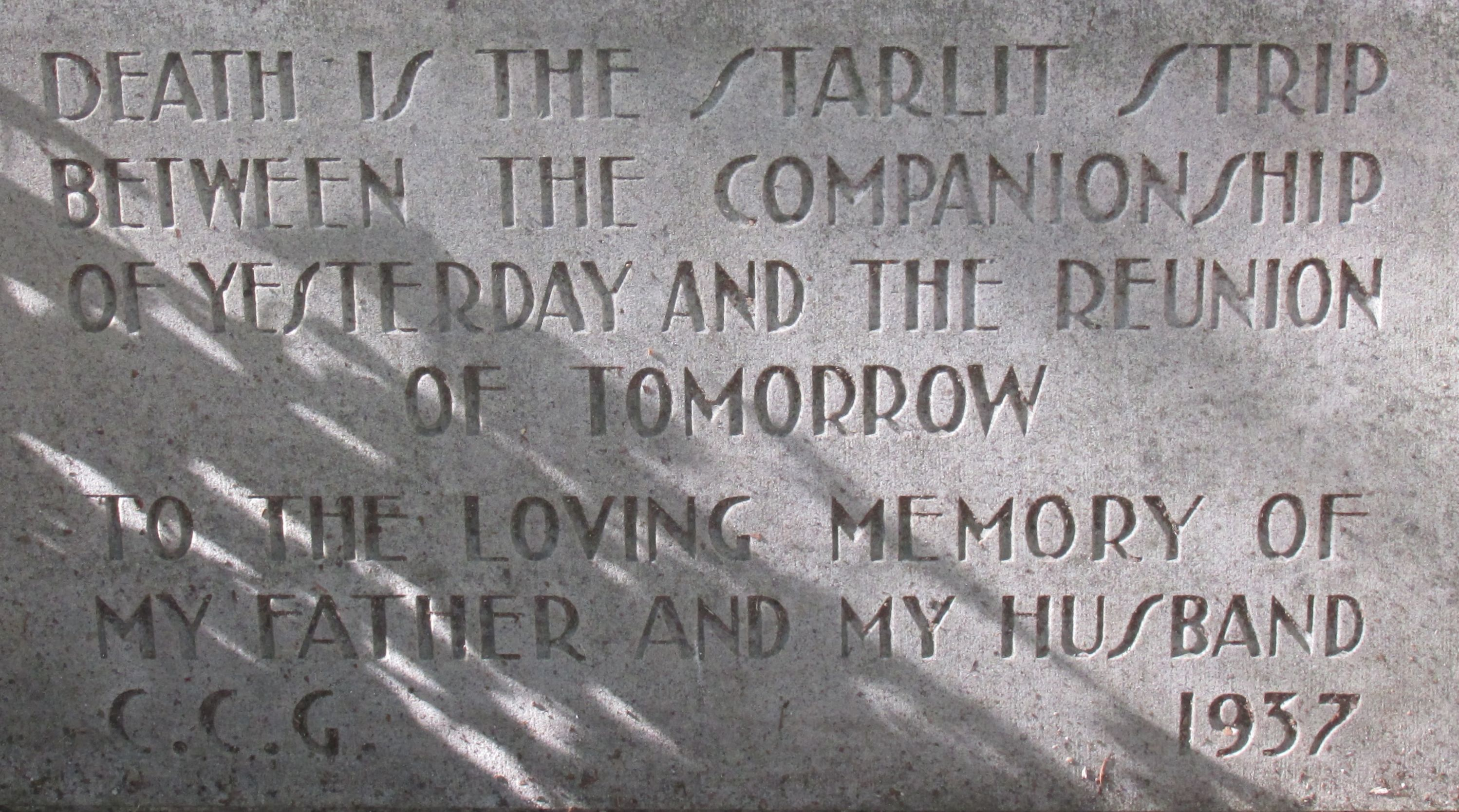 Cemetary - Mark Twain's grave poem detail