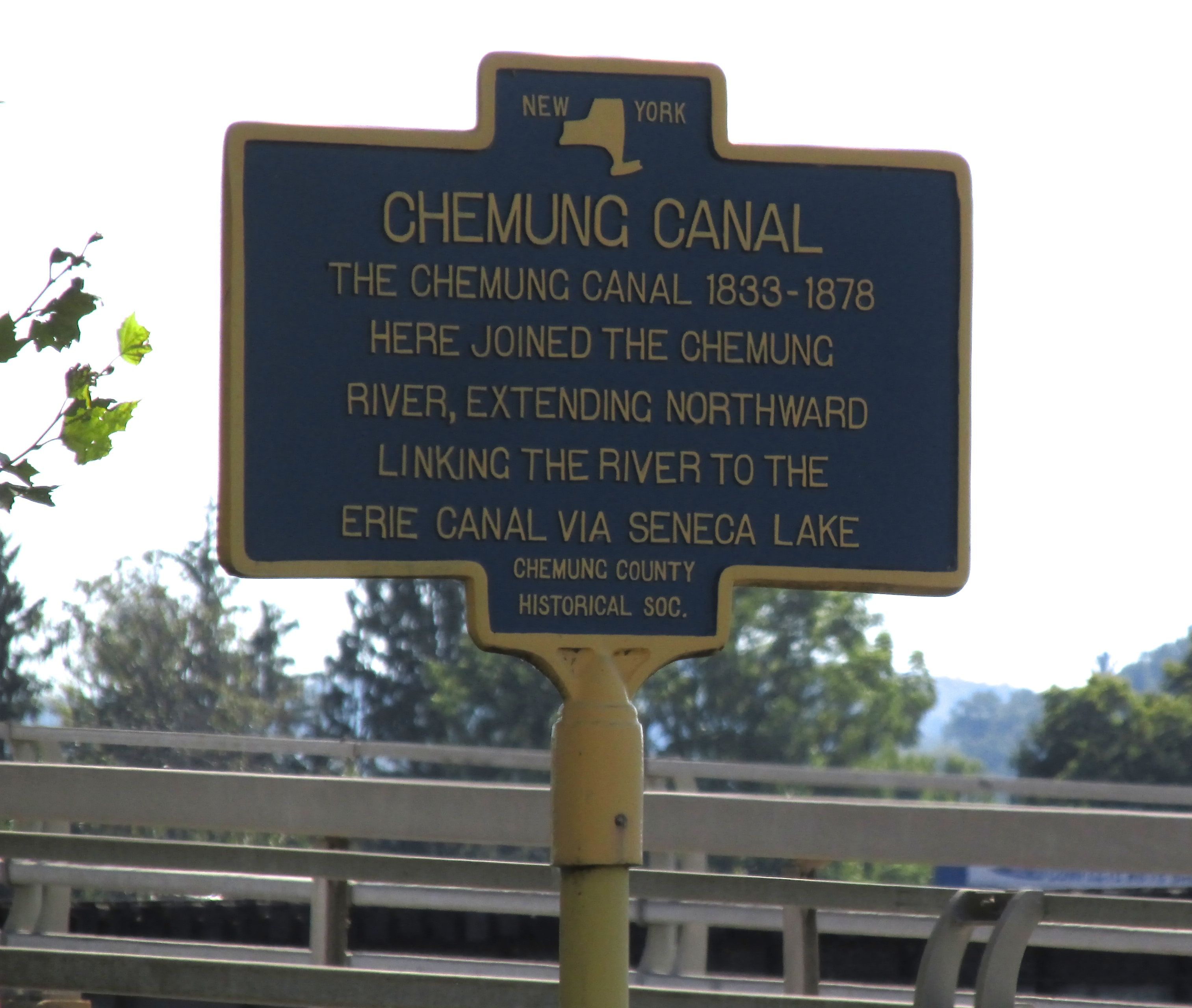 Yet another marker for the Chemung Canal!