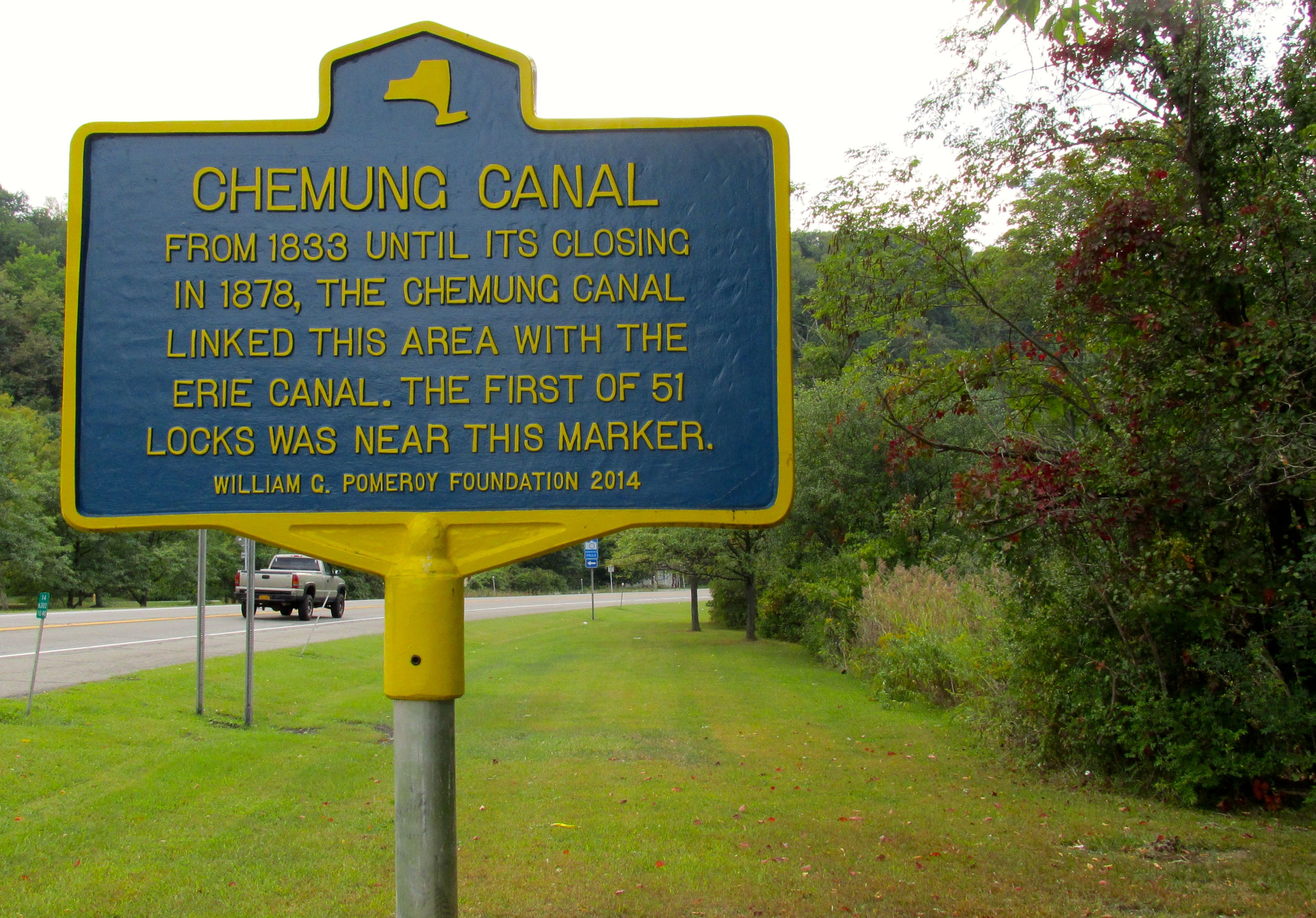 Chemung Canal Marker