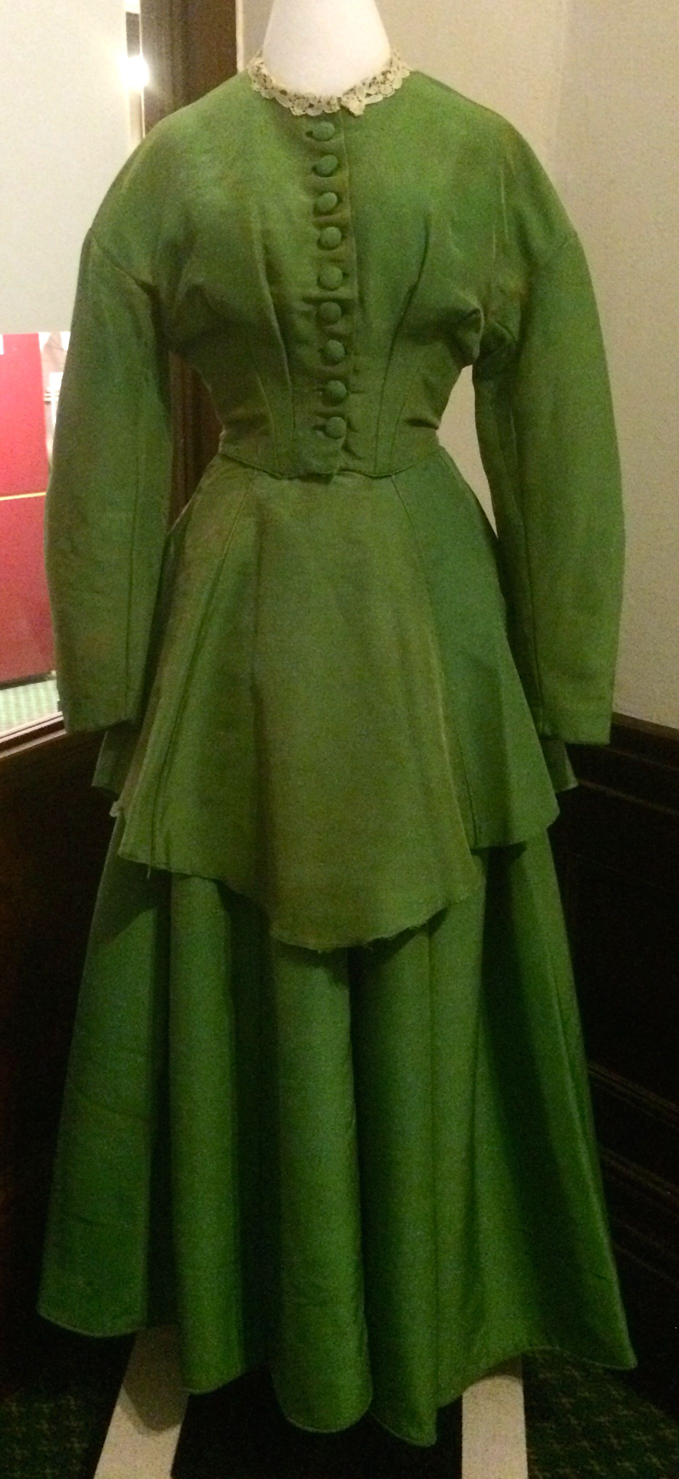 Elegant Green Silk Dress