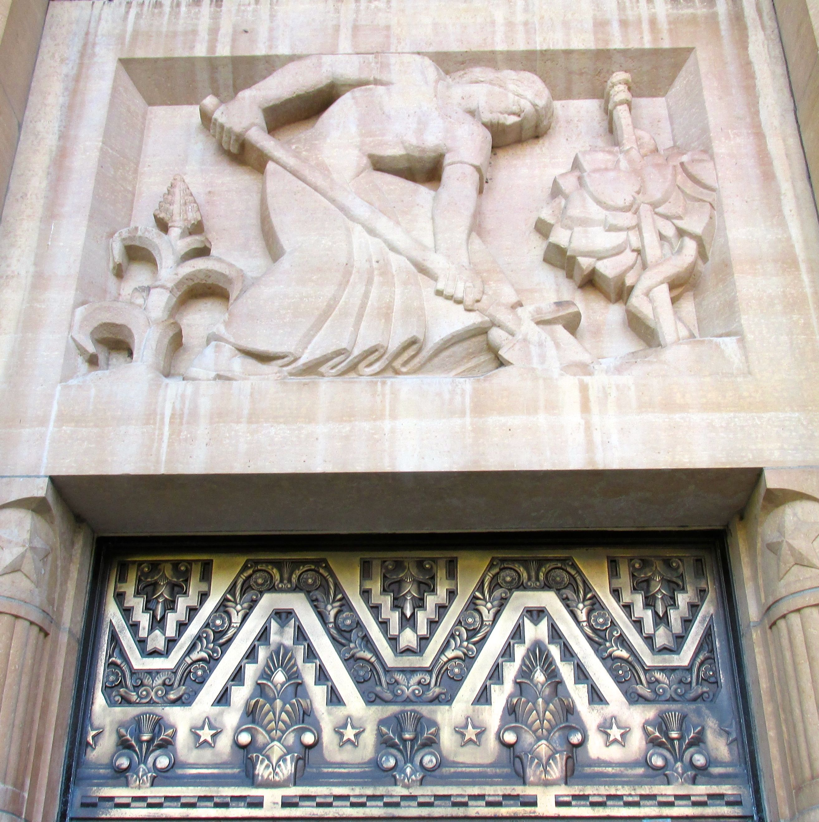 Decoration over an entrance