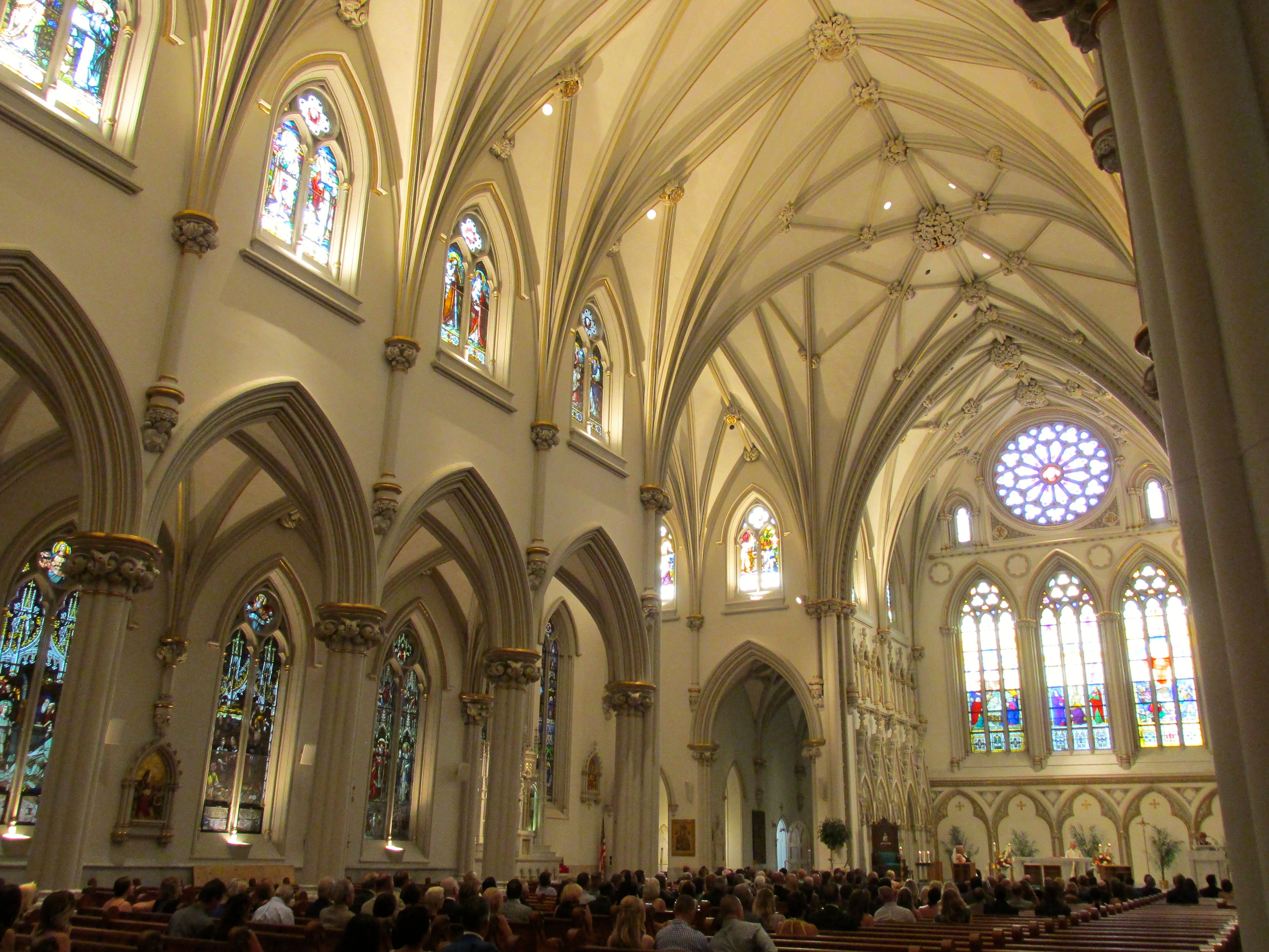 Inside St. Joseph's Cathedral - another wedding