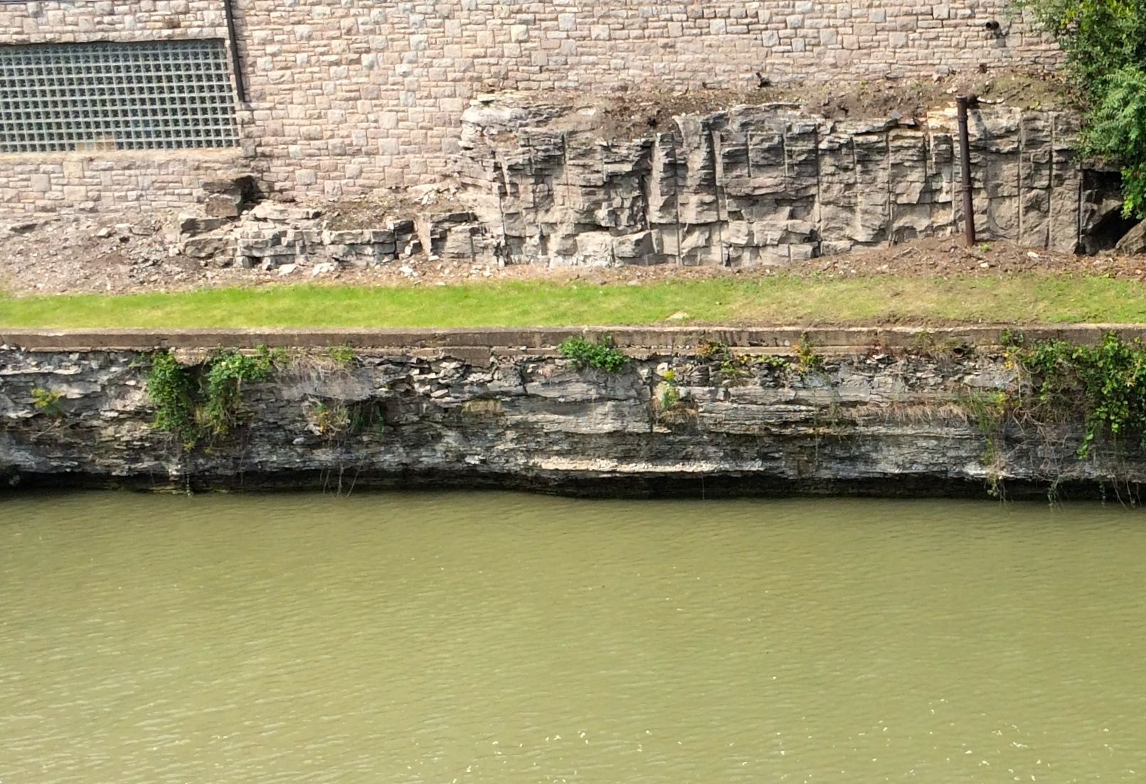 You can see the rocks they had to work with on the side of the canal.