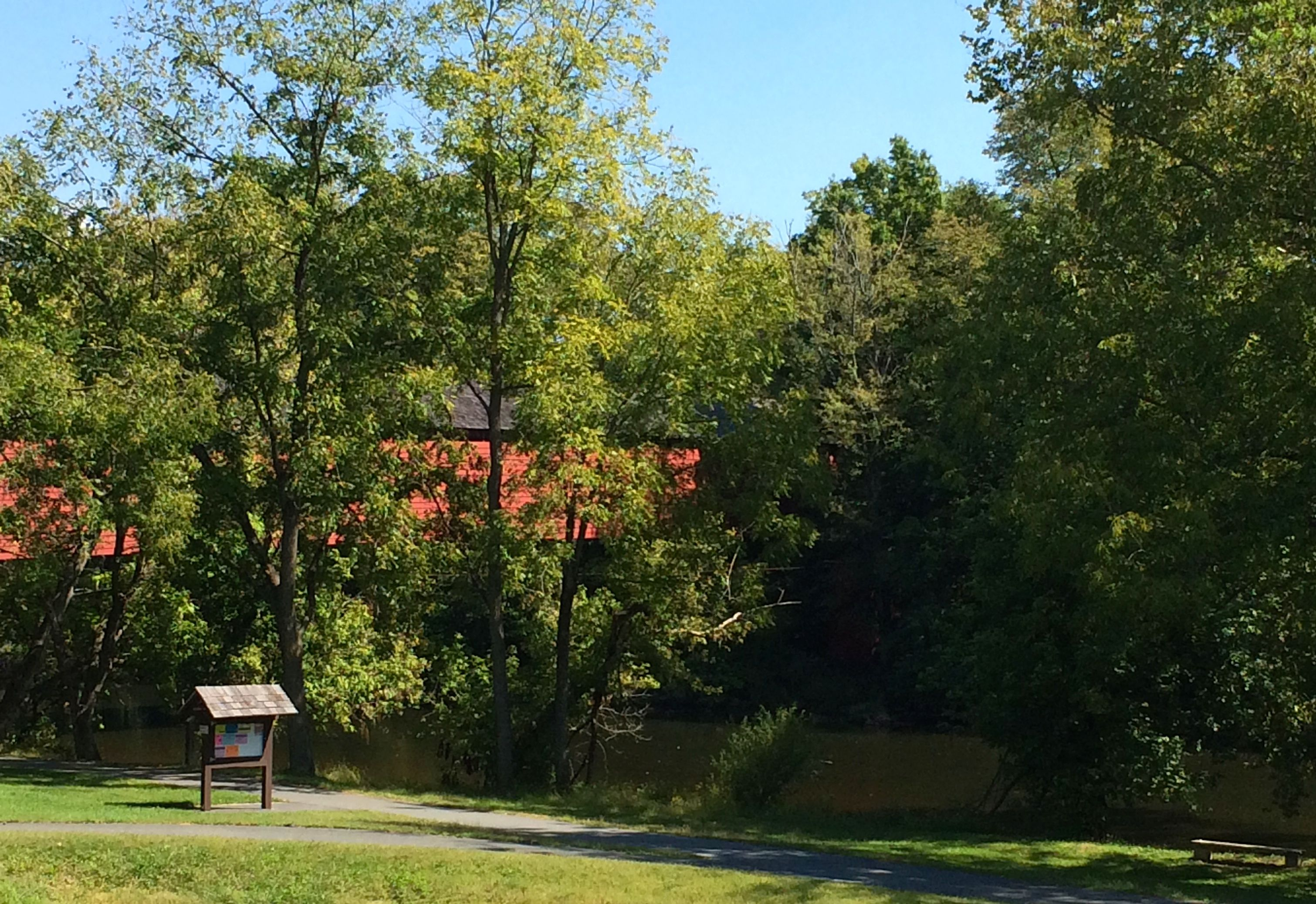 Red Covered Bridge over the Union Canal