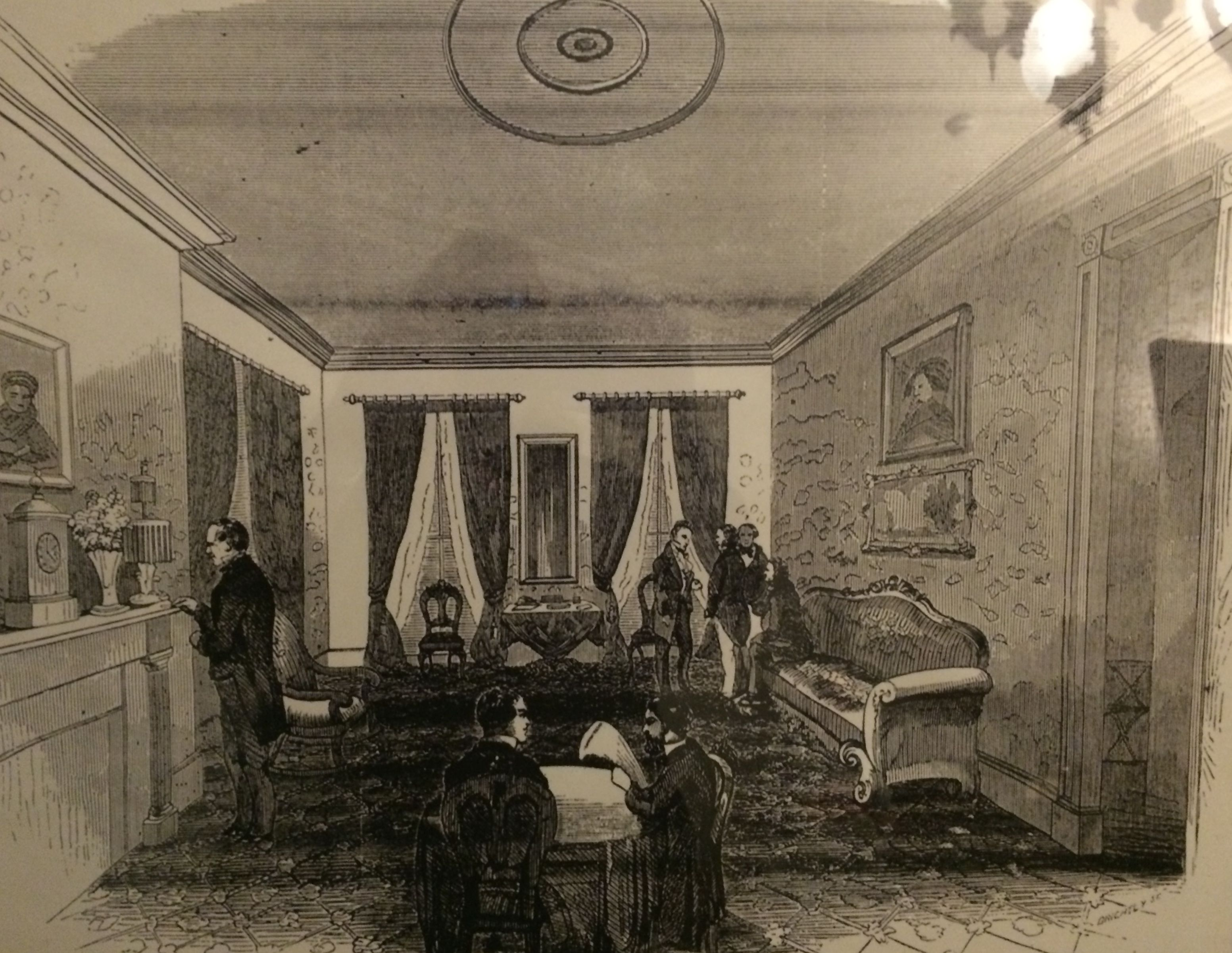 Period illustration of the dining room