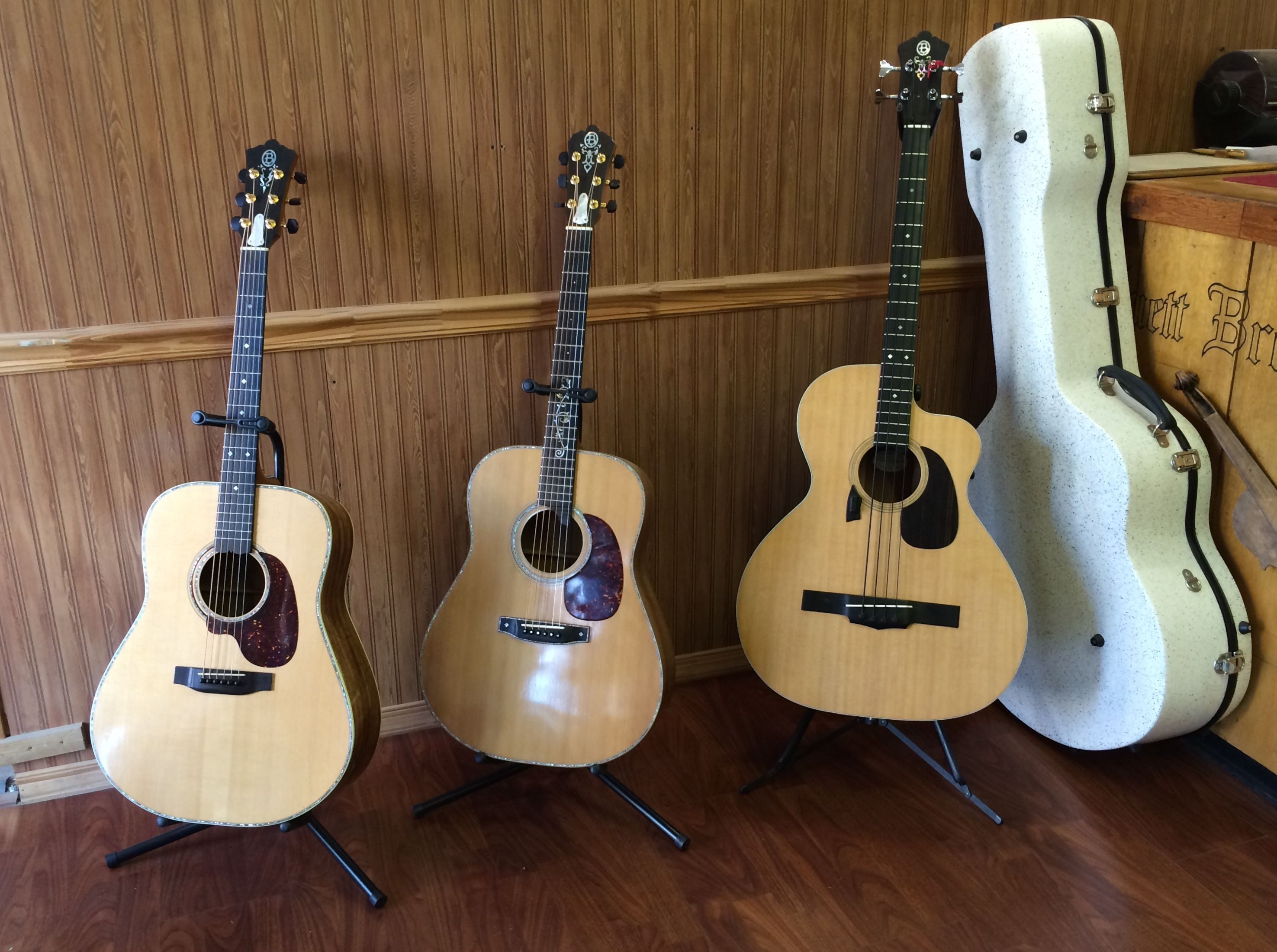 Three guitars and a $1200 case