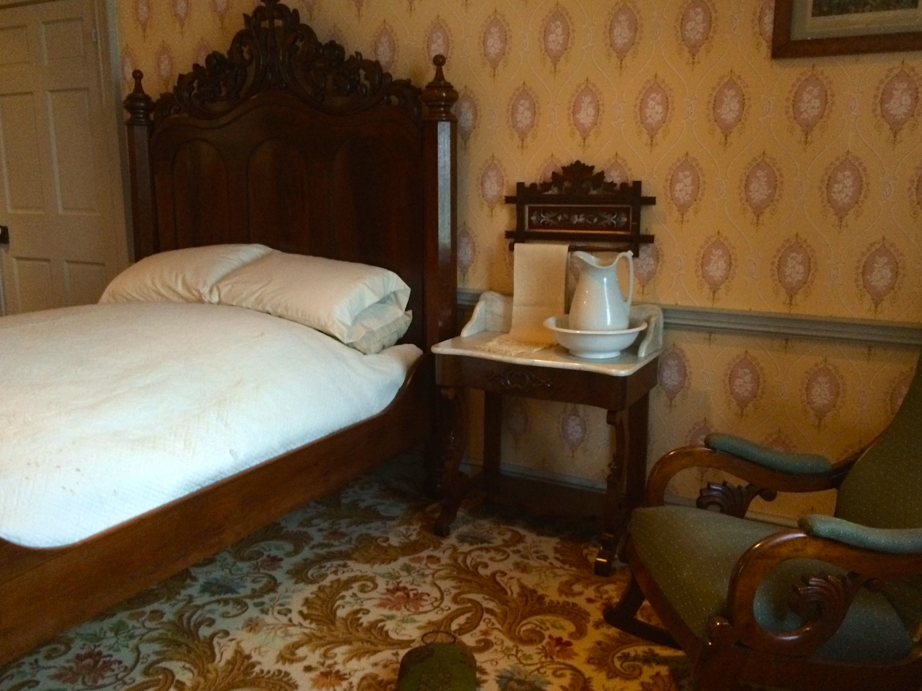 Lincoln's bedroom at the Wills house