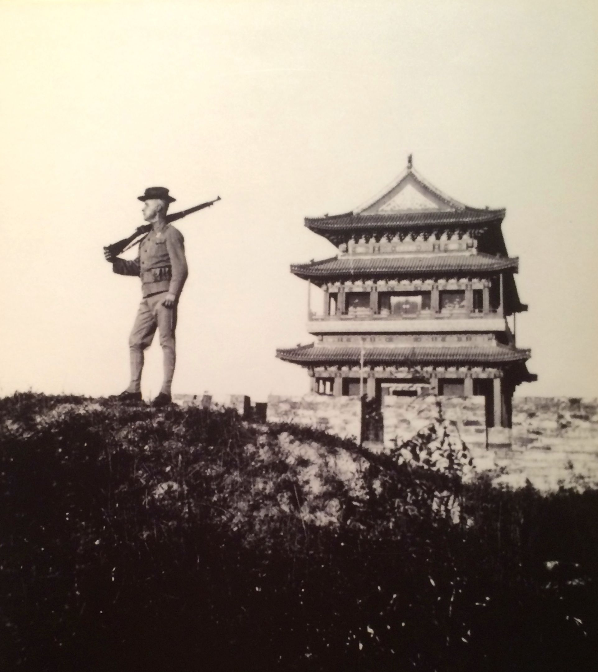 Marine on guard in China 1915. They were there until 1941.