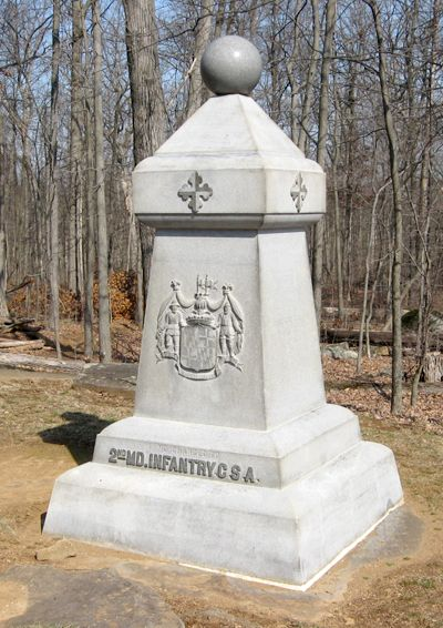 2nd Maryland Infantry Culp's Hill Dedicated November 19, 1886 Cost $1000