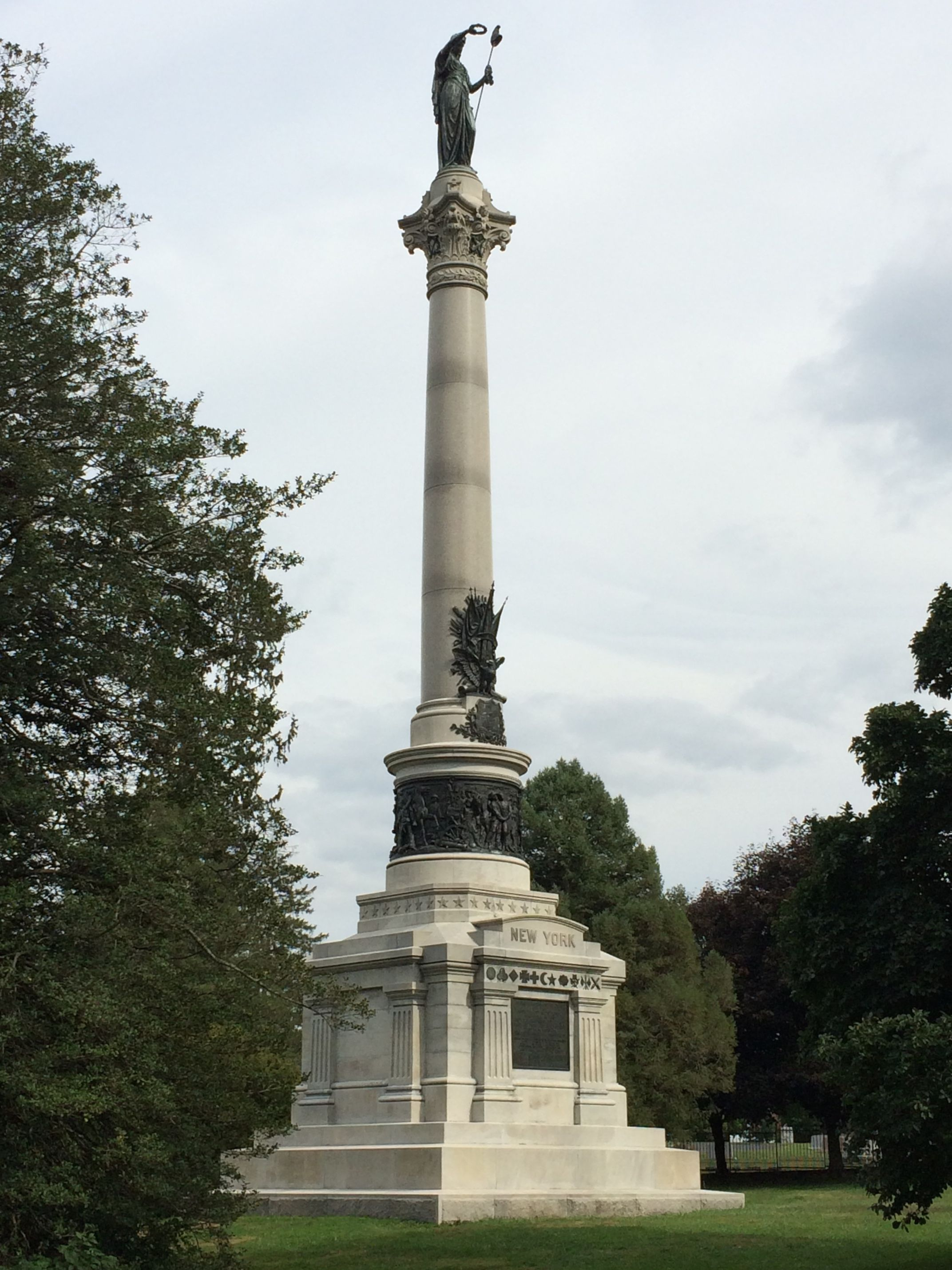 New York State Monument Dedicated: July 2, 1893 Located in the National Cemetery Cost $59,059