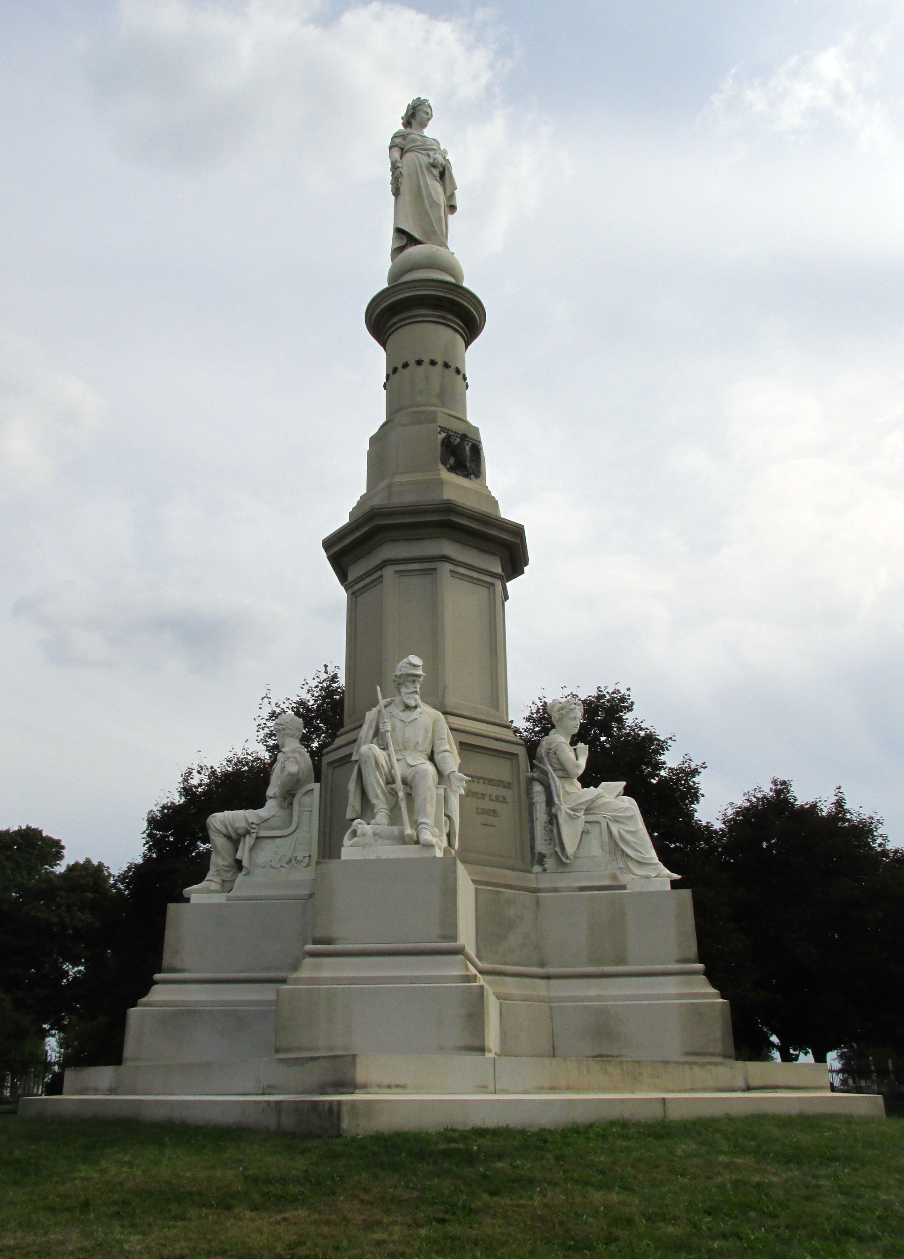 Soldiers National Monument Dedicated July 1, 1869