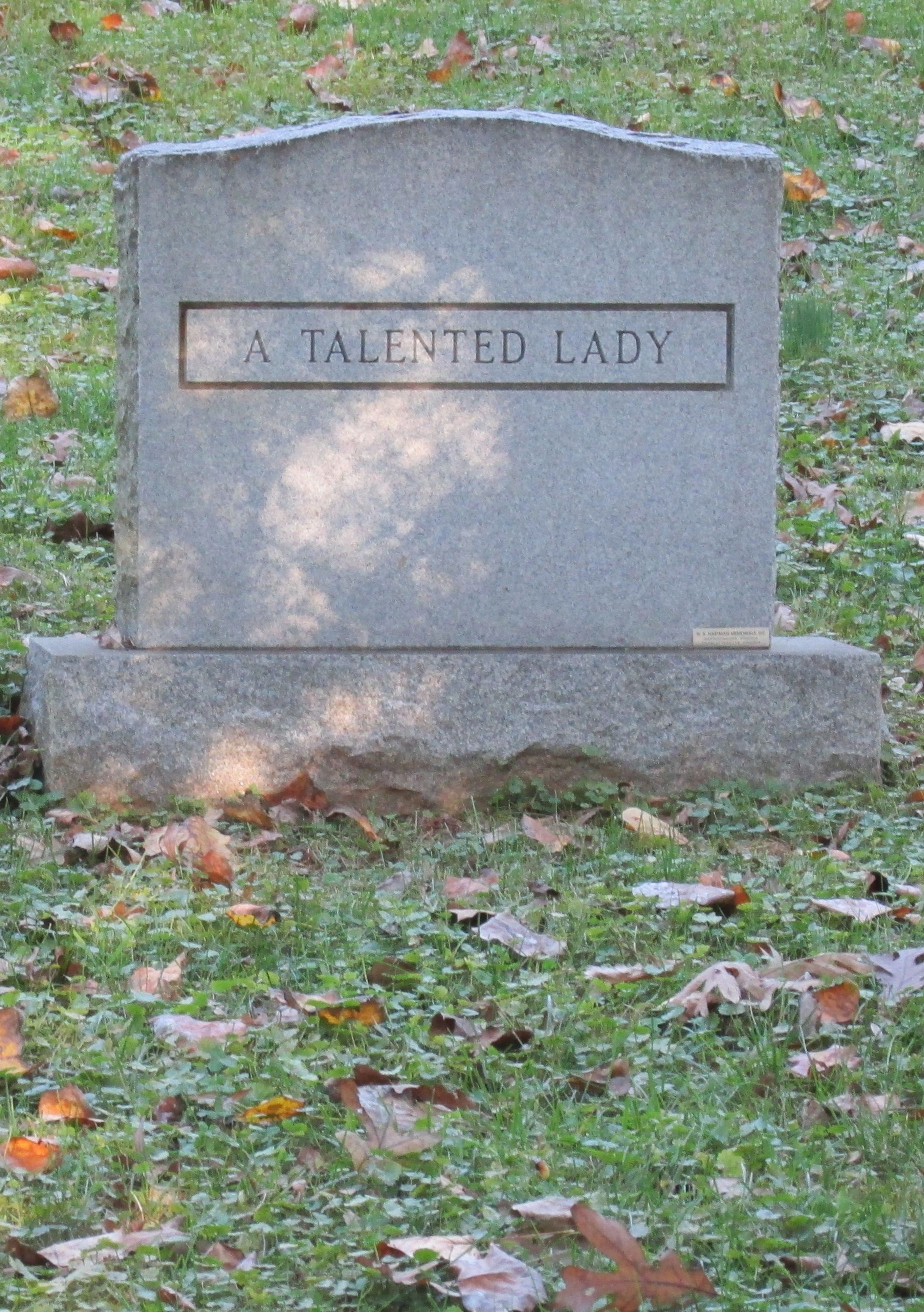 A talented lady headstone