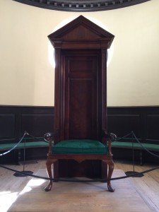 Original Speaker's Chair from the House of Burgesses