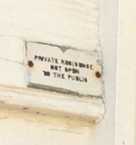 Private Residence Not open to thepublic