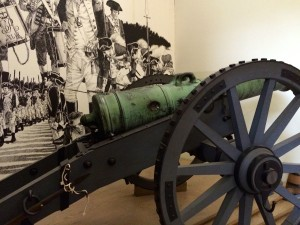 The lafayette Cannon with dent
