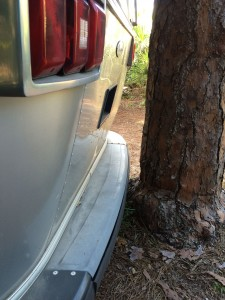 Look how close the rear bumper is to the tree!