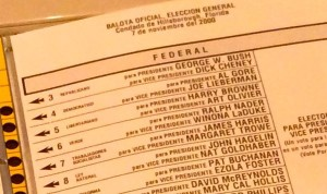 Ballot close up