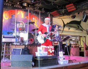Singing Santa at Sloppy Joe's