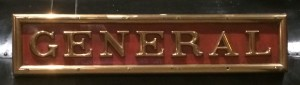 The General nameplate