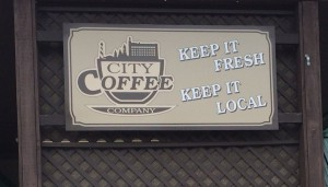 City Coffee Company sign