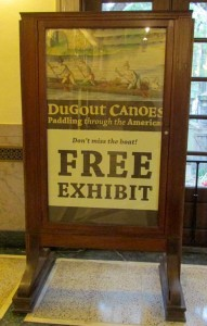Dugout canoe FREE sign