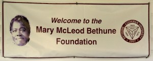 Mary McLeod Bethune foundations sign