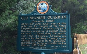 Old Spanish Quarries sign