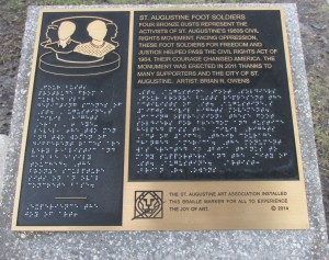 St Augustin Footsoldiers plaque