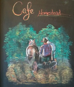 Homestead chalk sign