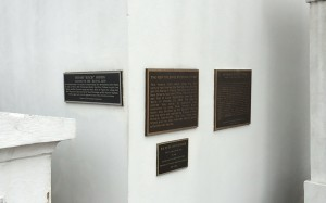 New Orleans Muscians Tomb plaques