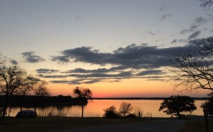 Sunset at Lake Waco