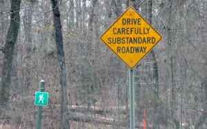 substandard road sign