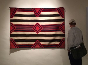 Chief blanket with cochineal