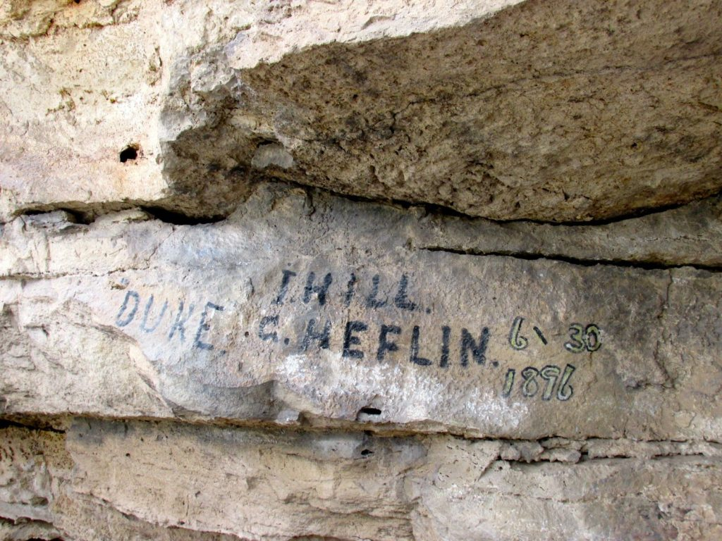 Montezuma well graffitti