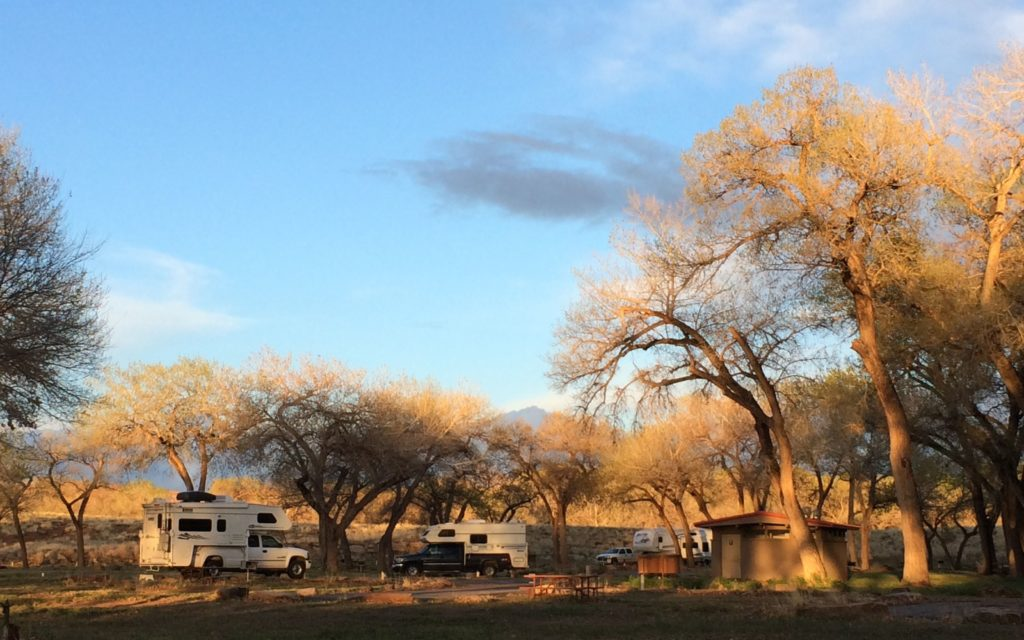 Campground with mountain