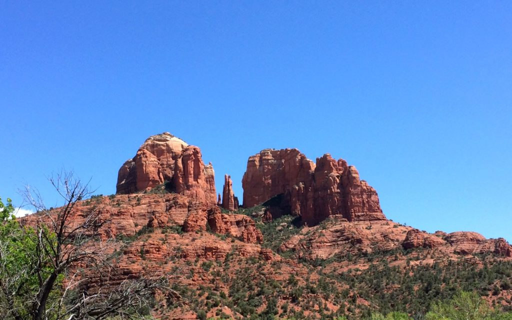 Cathedral Rock in the sun