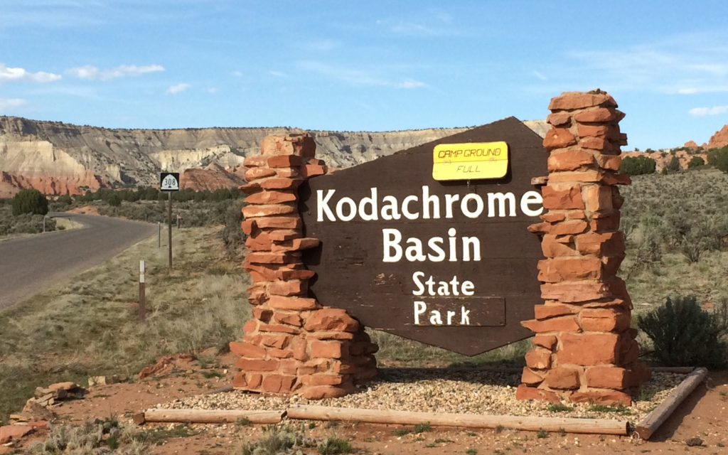 Kodachrome Basin sign