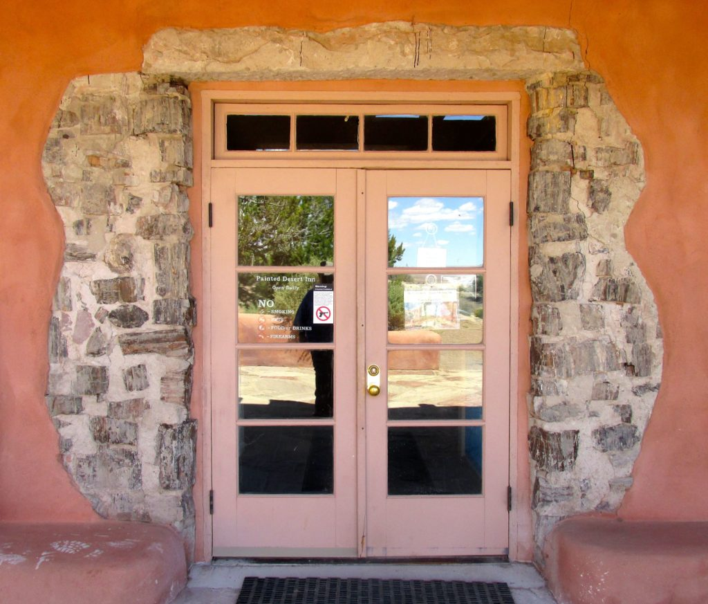 Lower Entrance with exposed petrified wood