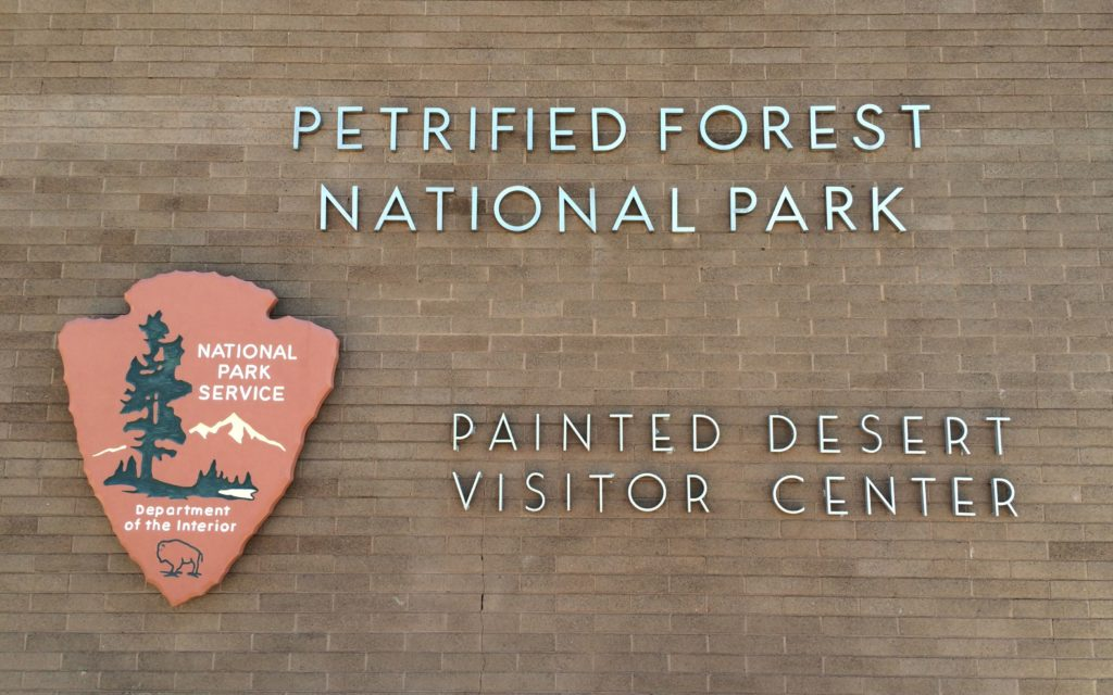 Petrified Forest Nationa Park sign