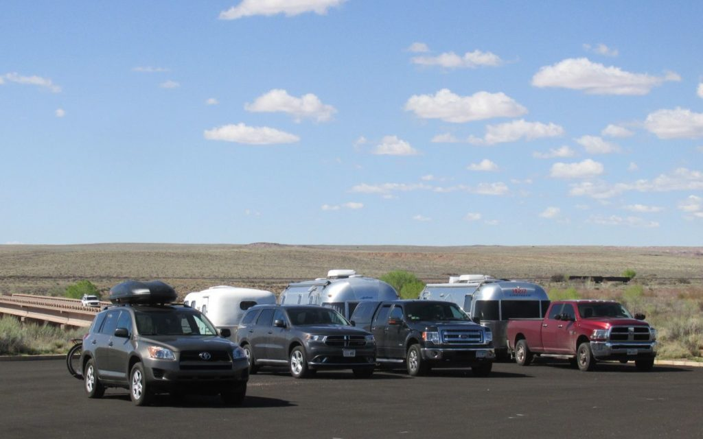 side by side Airstreams