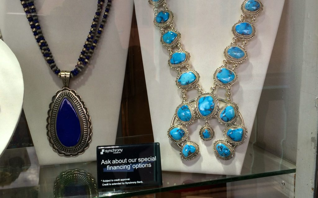 Jewelry in the window with financing options